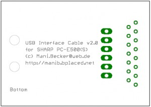 Sharp USB Interface Platine Version 2, Bottom